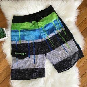 Billabong Swim Shorts Platinum X Stretch Size 25